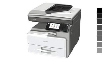 Aluguel de impressora Ricoh aficio mp 301 spf